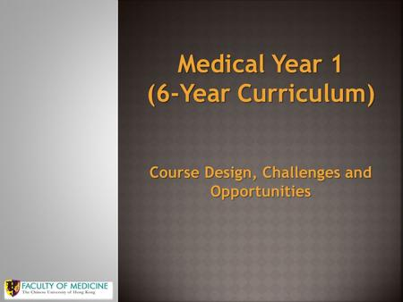 Course Design, Challenges and Opportunities