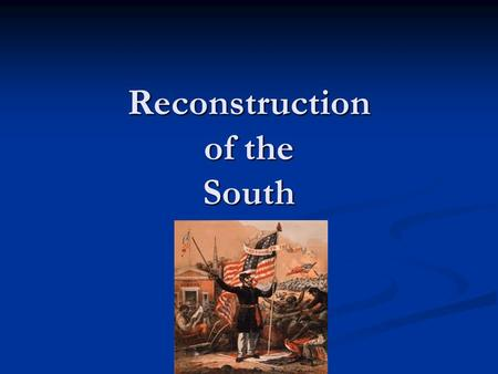 Reconstruction of the South. Presidential Reconstruction Lincoln's Plan In late 1863 Lincoln issued a Proclamation of Amnesty and Reconstruction, offering.