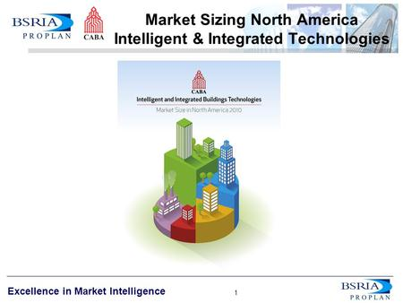 1 Excellence in Market Intelligence 1 Market Sizing North America Intelligent & Integrated Technologies.