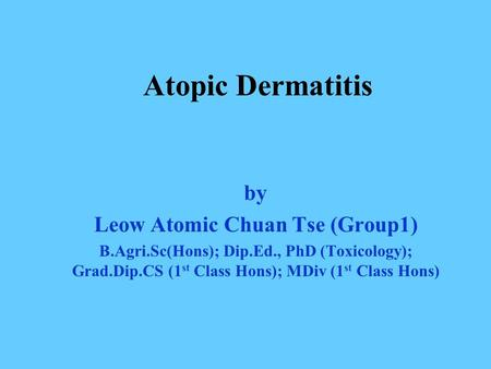 Leow Atomic Chuan Tse (Group1)