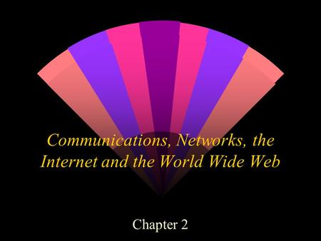 Communications, Networks, the Internet and the World Wide Web Chapter 2.