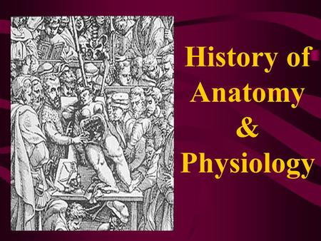 "History of Anatomy & Physiology. ""What a piece of work is a man, how noble in reason, how infinite in faculties, in form and moving, how express and admirable;"