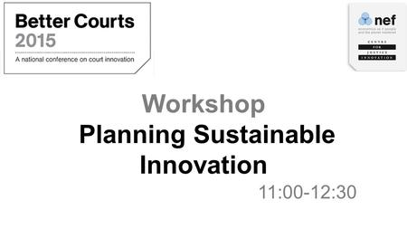 Workshop Planning Sustainable Innovation 11:00-12:30.