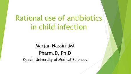Rational use of antibiotics in child infection