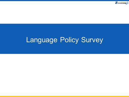 Language Policy Survey. Number of Languages to Require.