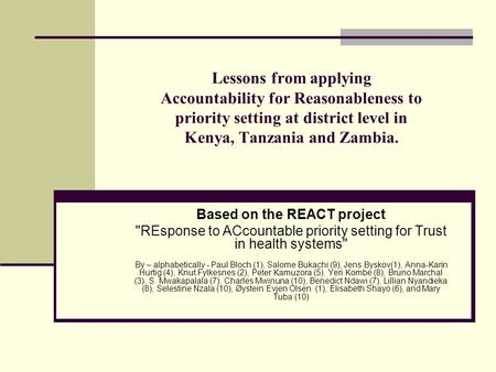 Permalink to Accountability For Reasonableness