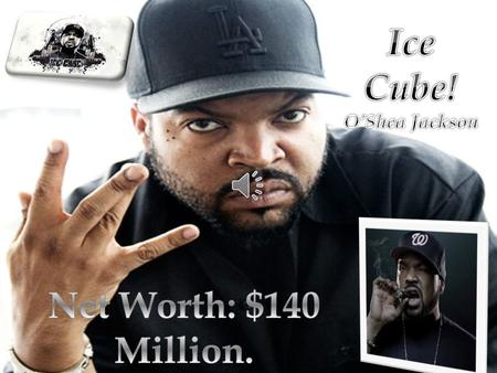 O'Shea Jackson (Born June 15 th 1969 age 45), Known by his stage name Ice Cube. He's an American Rapper, Filmmaker, Actor and Record Producer. He.