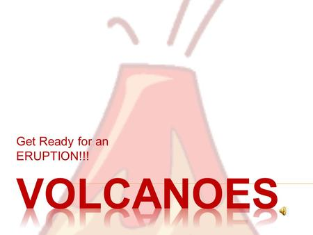Get Ready for an ERUPTION!!!  Three Types of Volcanos  Shield  Cinder Cone  Composite.