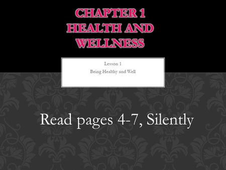 Chapter 1 Health and Wellness