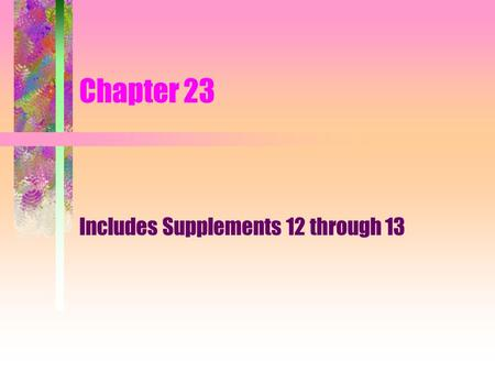 Includes Supplements 12 through 13