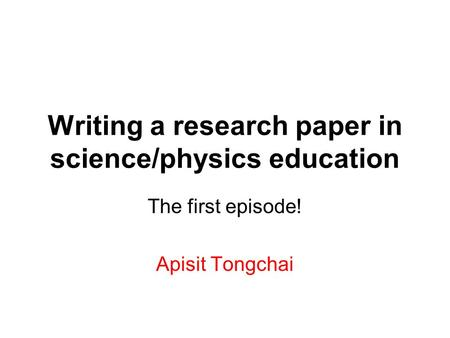 physics sydney university writing a research papers