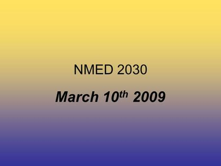 NMED 2030 March 10 th 2009. NMED 2030 Today's Class… Audio Video Assignment.