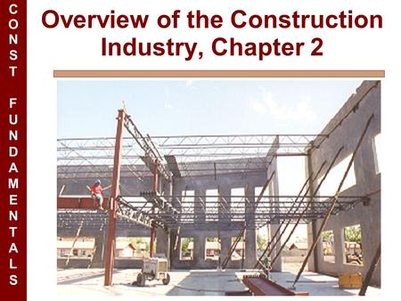 CONSTFUNDAMENTALSCONSTFUNDAMENTALS Overview of the Construction Industry, Chapter 2.