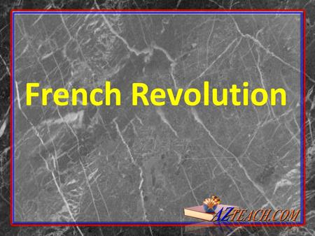 French Revolution. Before the Revolution Government was a Monarchy called the Old Regime. During the Old Regime there were 3 Estates (social classes)