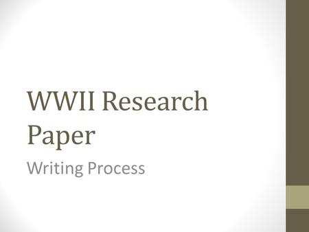 process of writing and editing a research paper