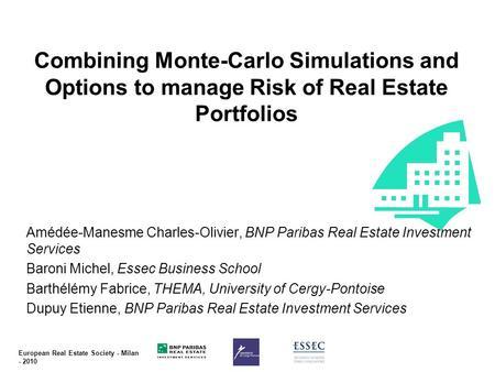 Monte carlo simulation stock options