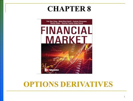 1 CHAPTER 8 OPTIONS DERIVATIVES. 2 Learning Objectives Describe what is an option and difference from futures Describe the difference between ETO and.