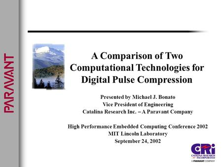 Computational Technologies for Digital Pulse Compression