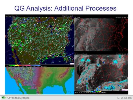 Advanced SynopticM. D. Eastin QG Analysis: Additional Processes.