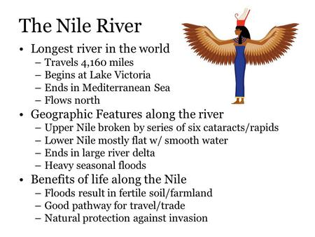 The Nile River Longest river in the world