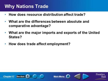 Why Nations Trade How does resource distribution affect trade?