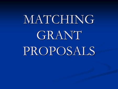 MATCHING GRANT PROPOSALS. District 5830 is partnering with District 5470 in Colorado to have the following Matching Grants in District 4845 in Argentina.