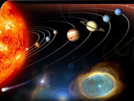 In our solar system, nine planets circle around our Sun. The Sun sits in the middle while the planets travel in circular paths (called orbits) around.