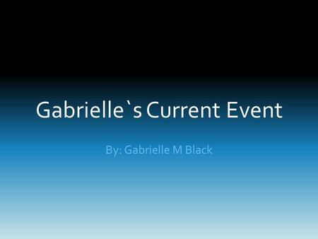 Gabrielle`s Current Event By: Gabrielle M Black. The Bengal Tiger Help save our friend not enemy against extinction!