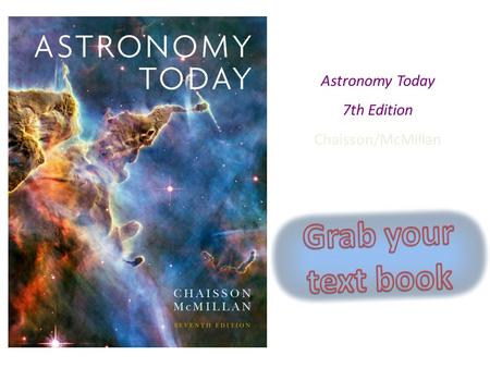 Grab your text book Chapter 1 Astronomy Today 7th Edition
