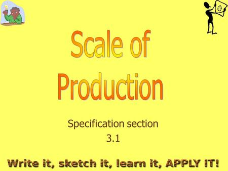 Specification section 3.1