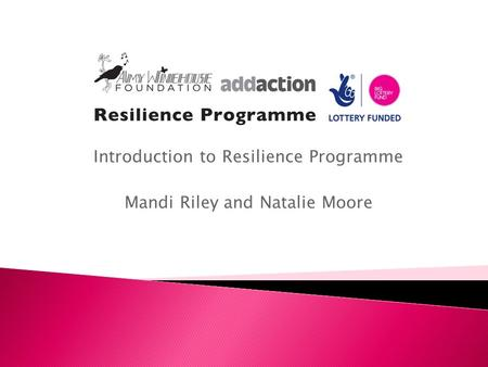 Introduction to Resilience Programme Mandi Riley and Natalie Moore.