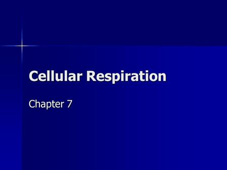 Cellular Respiration Chapter 7. Obtaining Food Autotrophs – producers – photosynthesis Autotrophs – producers – photosynthesis Heterotrophs – consumers.