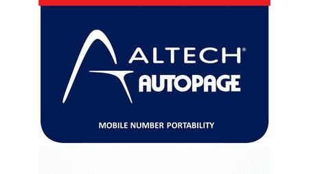 WELCOME TO ALTECH AUTOPAGE CELLULAR