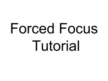 Forced Focus Tutorial. Here is a photo of the Adobe CS box in a tranquil background setting. The tranquil being the rocks, waterfall, flowers, morning.