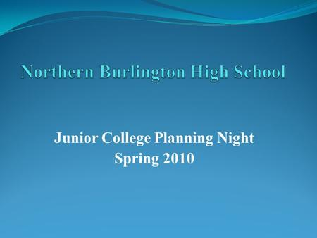 Junior College Planning Night Spring 2010. Agenda Guidance News College Selection Factors Family Connection Admission Factors Admission Process Athletics.