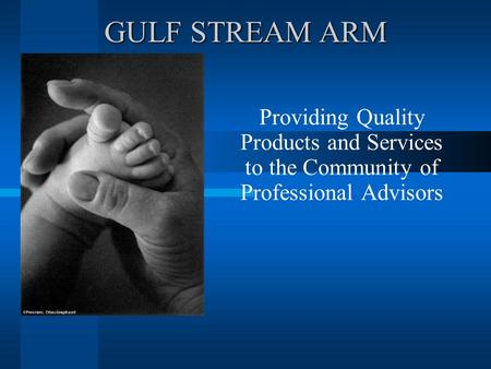 GULF STREAM ARM Providing Quality Products and Services to the Community of Professional Advisors.