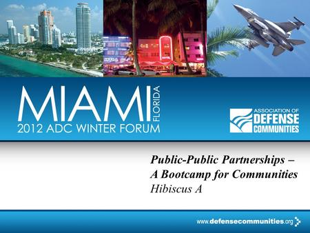 Public-Public Partnerships – A Bootcamp for Communities Hibiscus A.