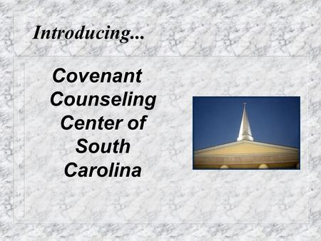 Introducing... Covenant Counseling Center of South Carolina.