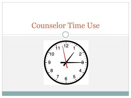 Counselor Time Use. ASCA Recommends School counselors Spend 80 percent of their time in direct service (contact) with students Because resources are limited,