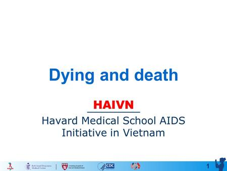 1 Dying and death HAIVN Havard Medical School AIDS Initiative in Vietnam.
