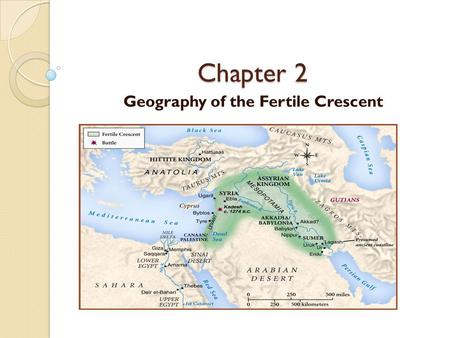 Chapter 2 Geography of the Fertile Crescent. Tigris and Euphrates Rivers These 1)rivers have several smaller rivers which feed into the system. The area.
