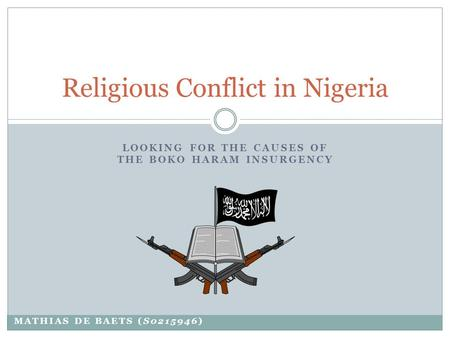 Causes of religious crises in nigeria essay