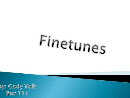 Music Finetune is an online site that offers free music to everyone that signs up. It shares many qualities that are similar to online radio sites or.