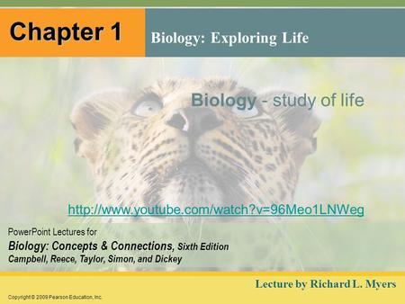 Copyright © 2009 Pearson Education, Inc. PowerPoint Lectures for Biology: Concepts & Connections, Sixth Edition Campbell, Reece, Taylor, Simon, and Dickey.