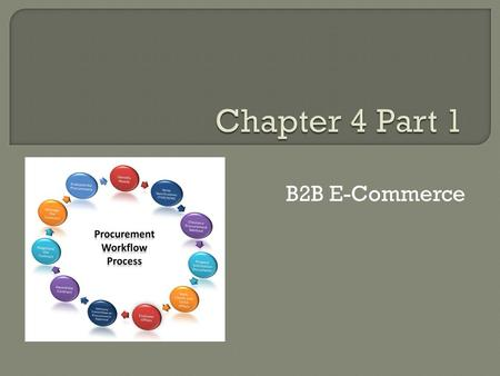 Learning Objectives Describe the major types of B2B models.