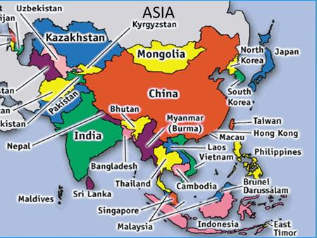ASIA. Physical Geography South Asia Includes the countries of: India, Pakistan, Nepal, Sri Lanka, Bhutan, Bangladesh and Maldives.