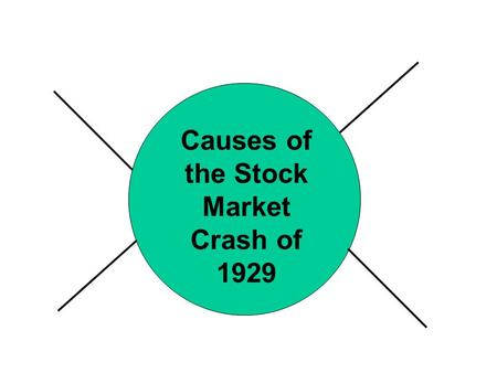 Causes of the Stock Market Crash of 1929. Depression : Period of severely reduced economic activity characterized by rise in unemployment.