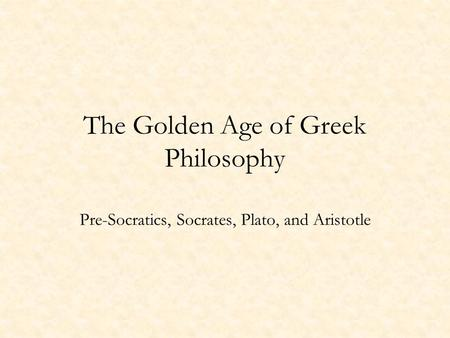 a report on the golden age of greece Overview of cultural contributions of classical greece golden age of athens classical greek society and culture report a mistake.