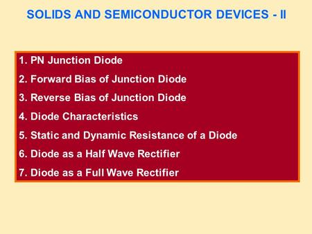 An analysis of the characteristics of transistor a semiconductor device
