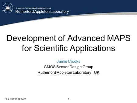 Development of Advanced MAPS for Scientific Applications